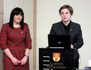 Kandidatės į KUSS prezidento postą: kairėje – G. Vaicekauskaitė, dešinėje – A. Švedaitė