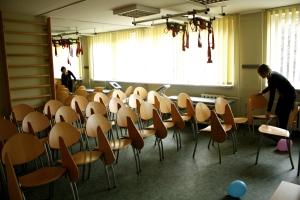 Kineziterapijos kabinete. Rūtos Kazlauskaitės nuotr.