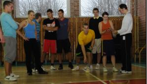 Kūno kultūros katedra organizuoja įvairius sporto renginius (Kūno kultūros katedros archyvas, 2011 m.)