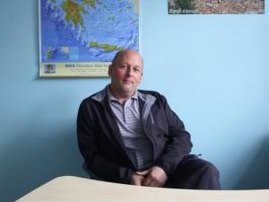 Socialinės geografijos katedros vedėjas doc. dr. E.Spiriajevas. Autoriaus nuotr.