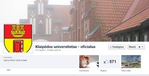 Klaipėdos universiteto paskyra.