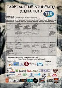 2013 metų TSD renginių kalendorius