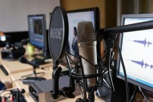 Simuliacinė radijo stotis Medijų laboratorijoje. V. Valinčiaus nuotr.