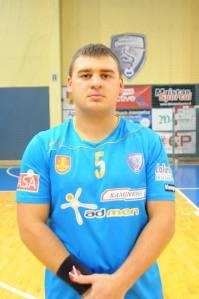 """Arvydas Bučius - Klaipedos """"Dragūno"""" kapitonas, linijos pozicijos žaidėjas. Komandos archyvo nuotr."""
