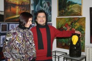 Isroildžon ir Andželika Baroti - BAROTI galerijos savininkai. Marijos Dolgopolovos nuotr.