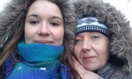 Anna and her mom Jana Čarnogurská. Personal archive picture.