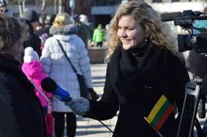 Reporterė Edita Stanevičiūtė beveik dvejus metus dirbo Klaipėdos regioninėje televizijoje V. Samulionytės nuotr.