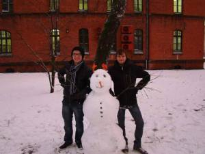 Žiema KU studentų miestelyje. Nuotr. iš Jono Krakausko albumo
