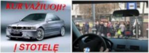internete plintantis juokelis apie BMW