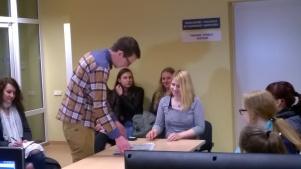 Skuodo Pranciškaus Žadeikio gimnazistai KU Medijų laboratorijoje 2016-04-29